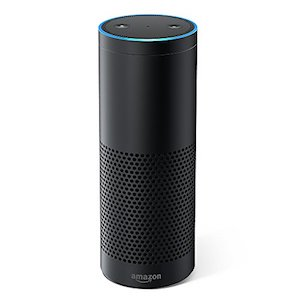 The voice activated internet connected speaker, Amazon's Alexa - image from www.amazon.co.uk