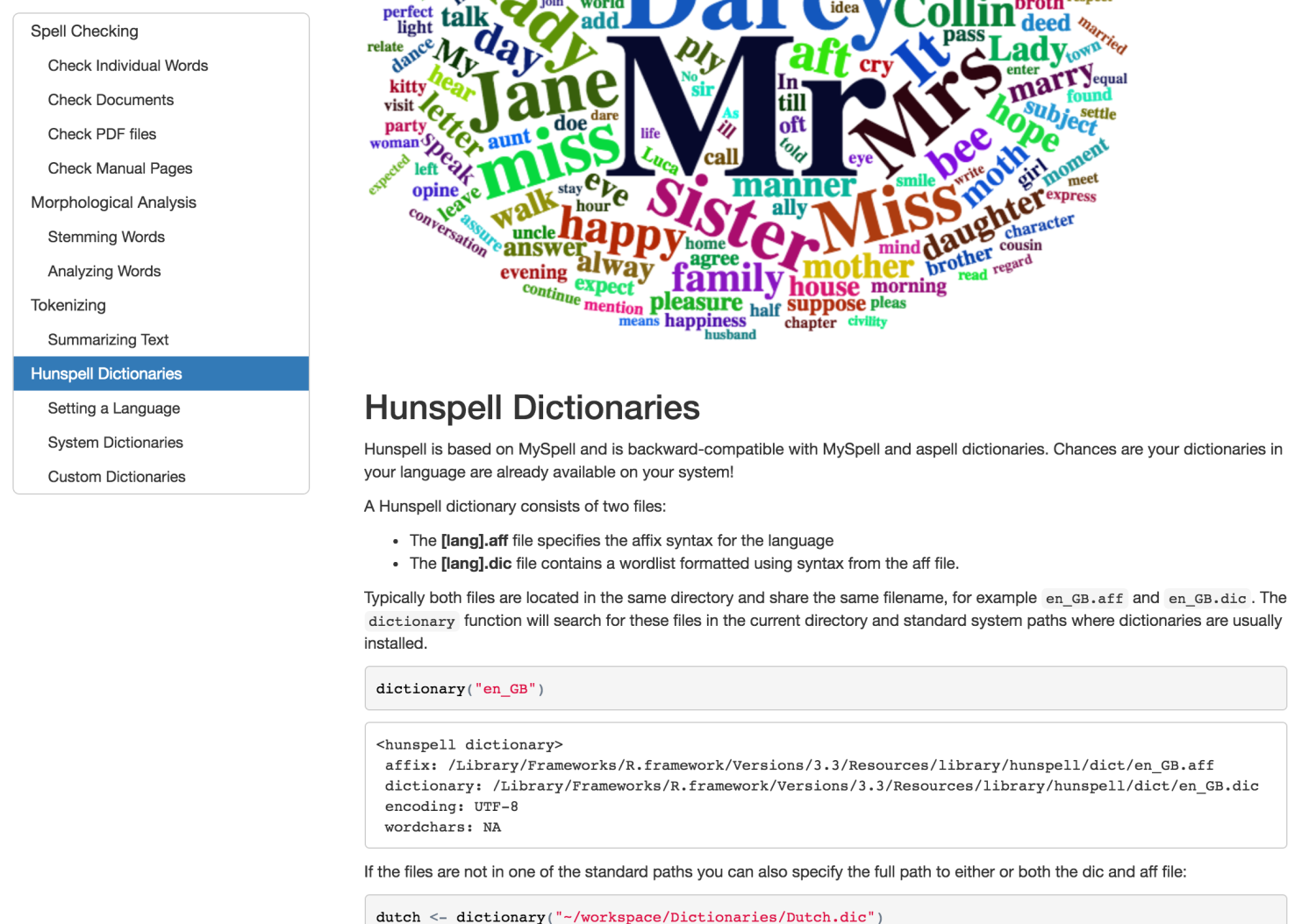 Hunspell 2.0: High-Performance Stemmer, Tokenizer, and Spell Checker for R